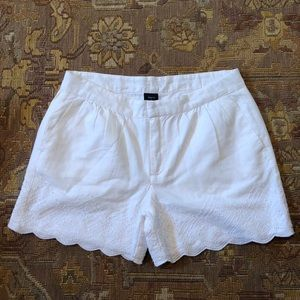 Gap Kids 100% cotton embroidered white shorts